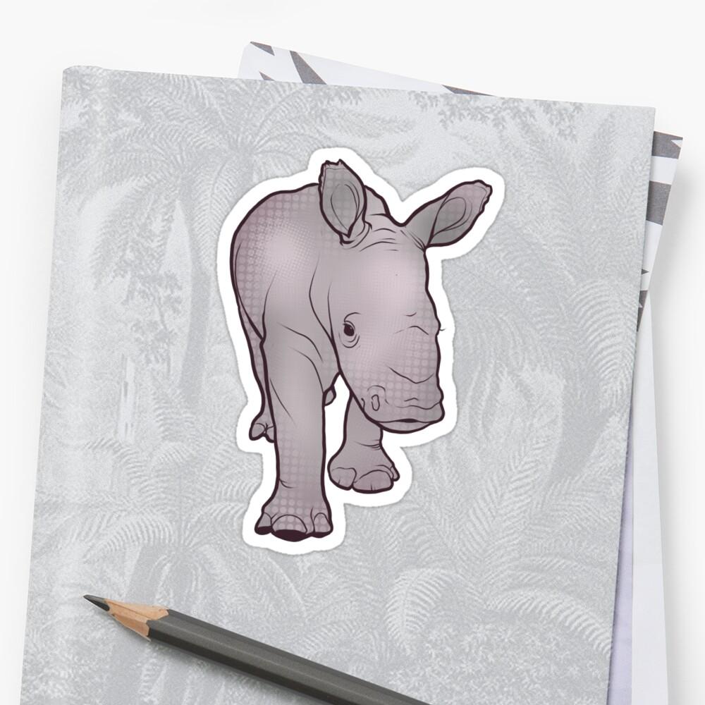 Rhino Baby Sticker