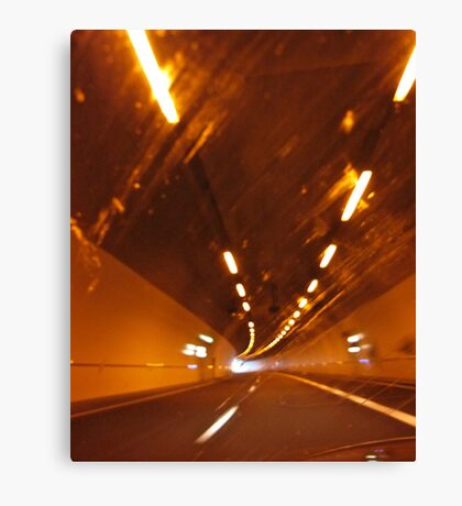 Road Tunnel Canvas Print