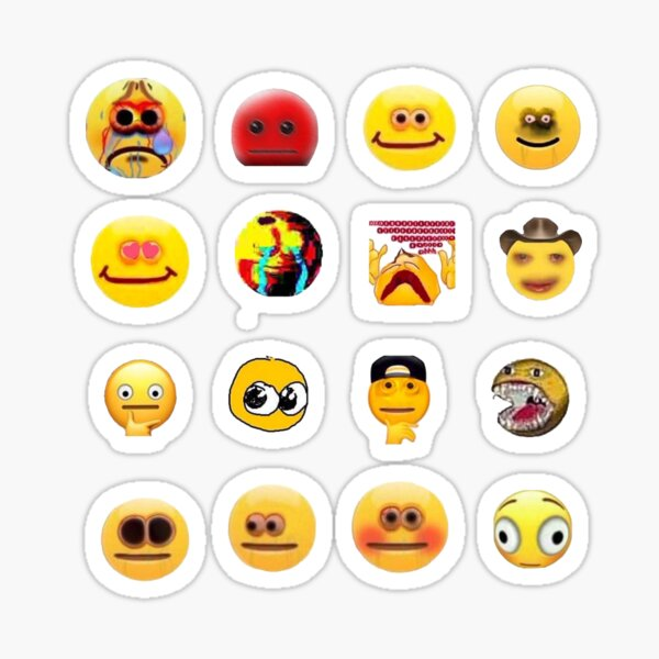 pack d'autocollants emoji maudit Sticker