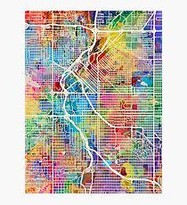 Denver Colorado Street Map Photographic Print