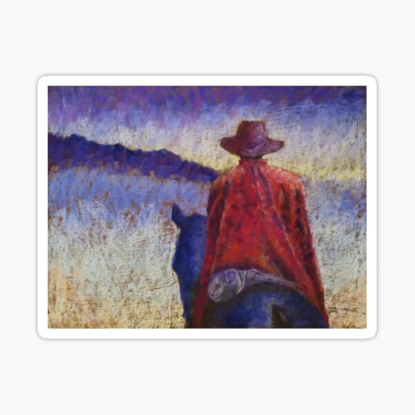 Solitude Original Pastel Painting Sticker