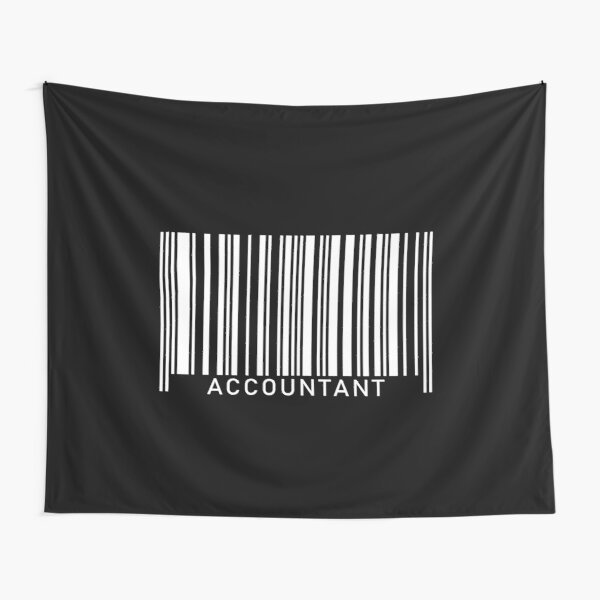 CPA Certified Public Accountant Bookkeeper Barcode Job  Tapestry