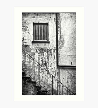 Stairs :: Window :: Drainpipe Art Print