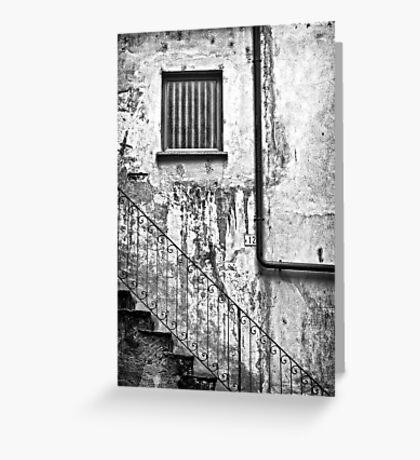 Stairs :: Window :: Drainpipe Greeting Card