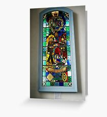 Stained glass window in the Cannongate Kirk, Edinburgh Greeting Card