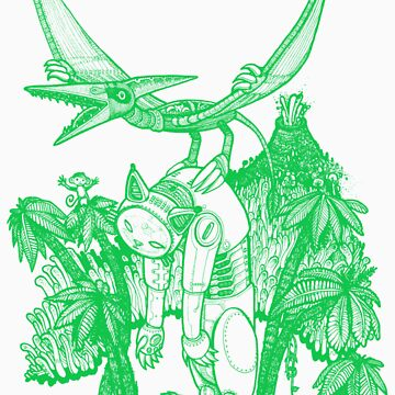 pterodactyl pilot green by Adew