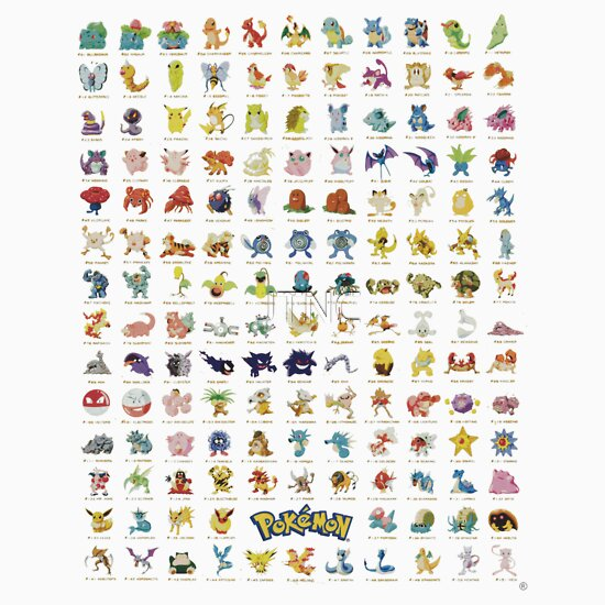 TShirtGifter presents: Pokemon The First 150