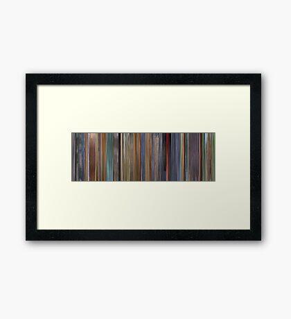 Moviebarcode: A Scanner Darkly (2006) Framed Print