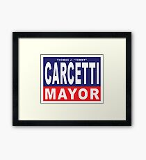 Carcetti for Mayor Framed Print