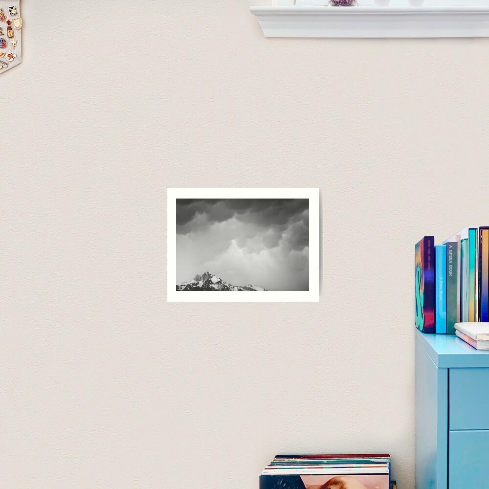 Mammatus Over Howling Wolf, The Tetons Art Print