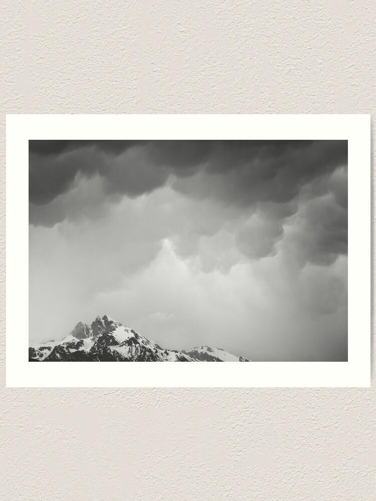 Alternate view of Mammatus Over Howling Wolf, The Tetons Art Print