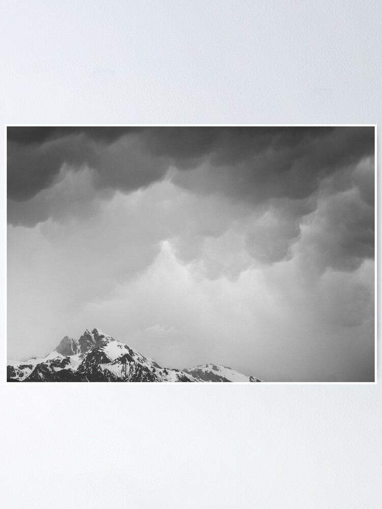 Alternate view of Mammatus Over Howling Wolf, The Tetons Poster