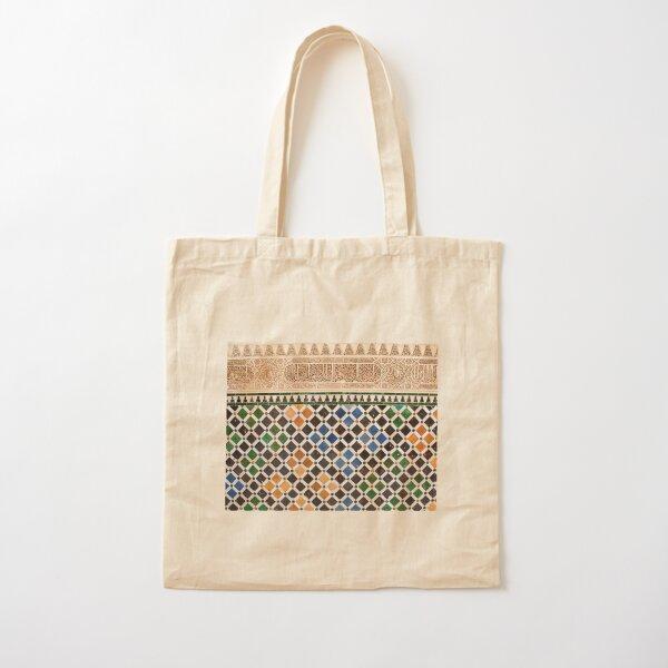 Alhambra Granada tile Bolsa de algodón