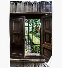 Yengo Garden Window - Mt Wilson NSW Australia Poster