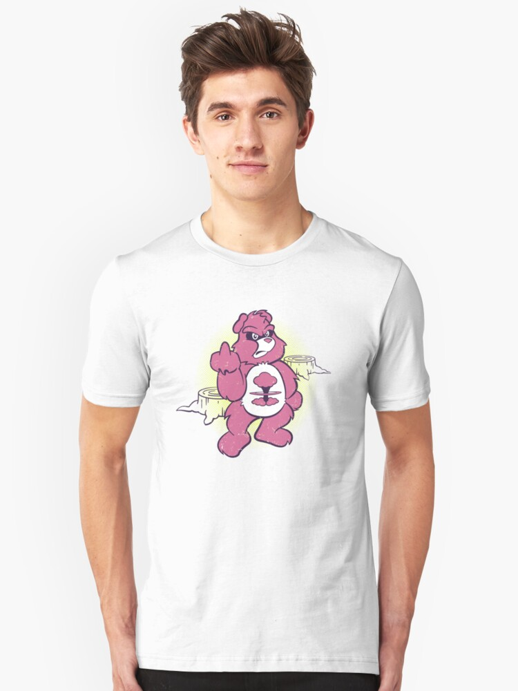 Don't Care Bear (pink) by Fanboy30