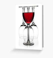 Glasses of red wine Greeting Card