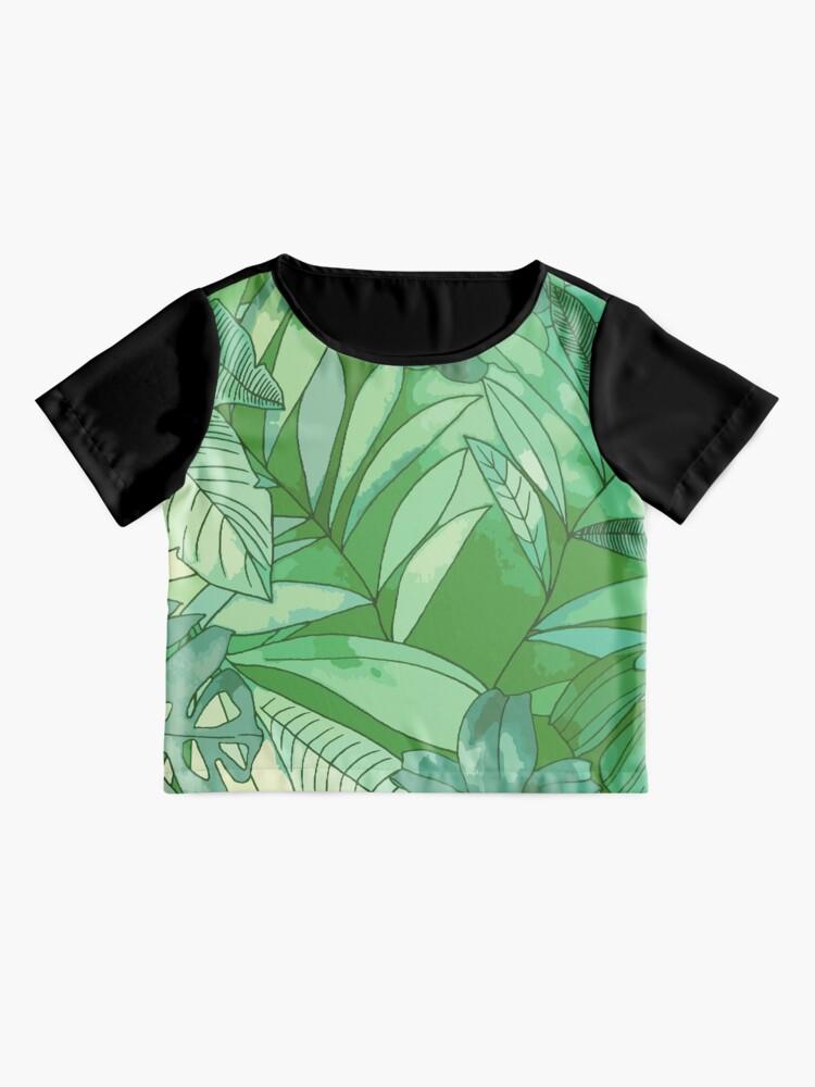 Alternate view of Green Jungle  Chiffon Top