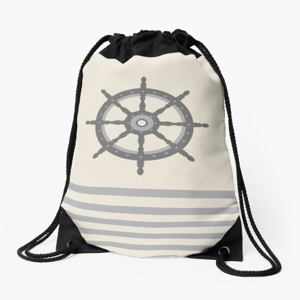 AFE Gray Helm Wheel Drawstring Bag