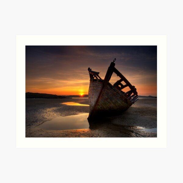 Wreck at Sunset • Bunbeg, Co Donegal Art Print