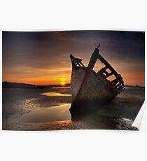 Wreck at Sunset • Bunbeg, Co Donegal Poster
