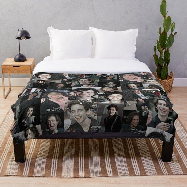 Timothee Chalamet Collage Throw Blanket