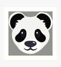 Emoji: Cute panda face Art Print