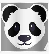 Emoji: Cute panda face Poster