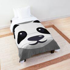 Emoji: Cute panda face Comforter