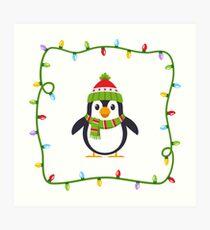 Emoji: Penguin X-mas Art Print