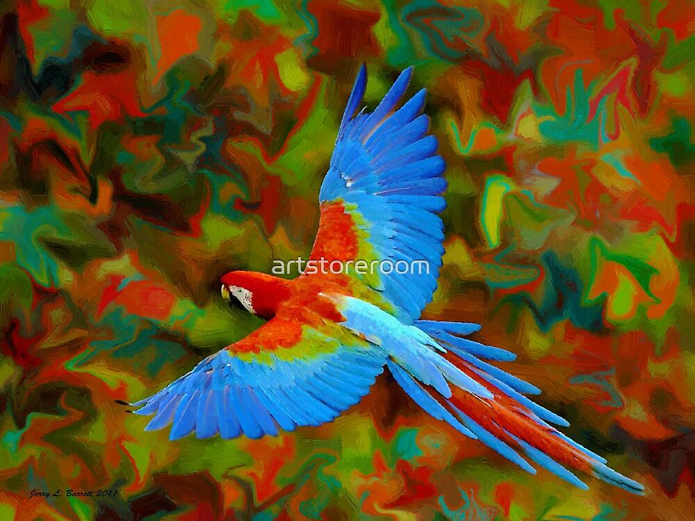 Flying Parrot by artstoreroom