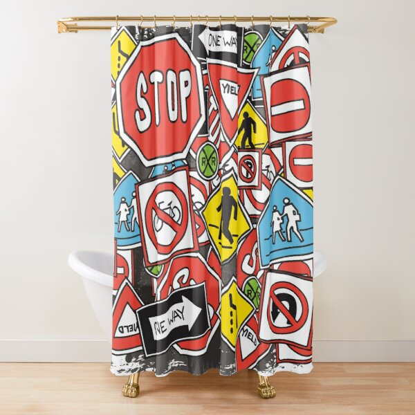 Street Sign Galore  Shower Curtain