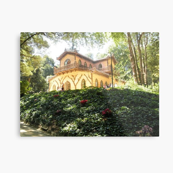 The Chalet of Countess d'Edla – Pena Park of Sintra - Portugal Metal Print