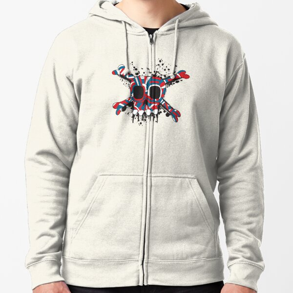 Super Great Jolly Roger Zipped Hoodie