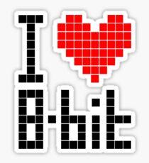 I Love 8-bit <3 Sticker