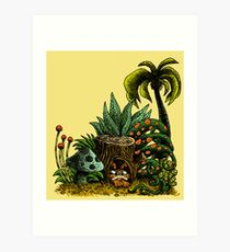 Roofle Garden Art Print