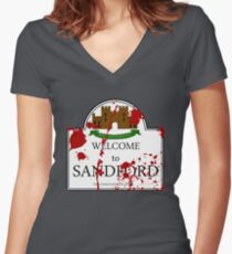Welcome to Sandford Women's Fitted V-Neck T-Shirt