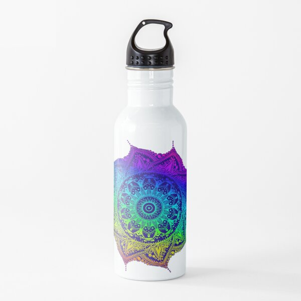 Rainbow Mandala Water Bottle