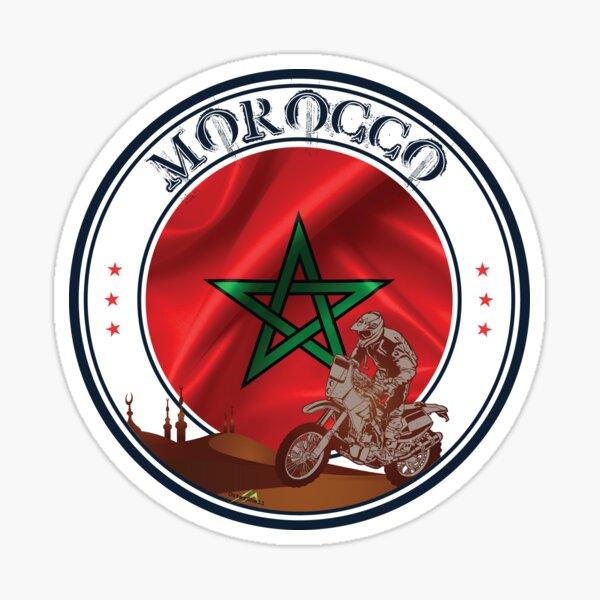 MAROC Maroc Maroc Drapeau Moto Autocollant Moto Sticker