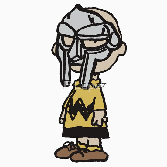 "TShirtGifter presents: The supervillain ""MF DOOM"" X Charlie Brown"