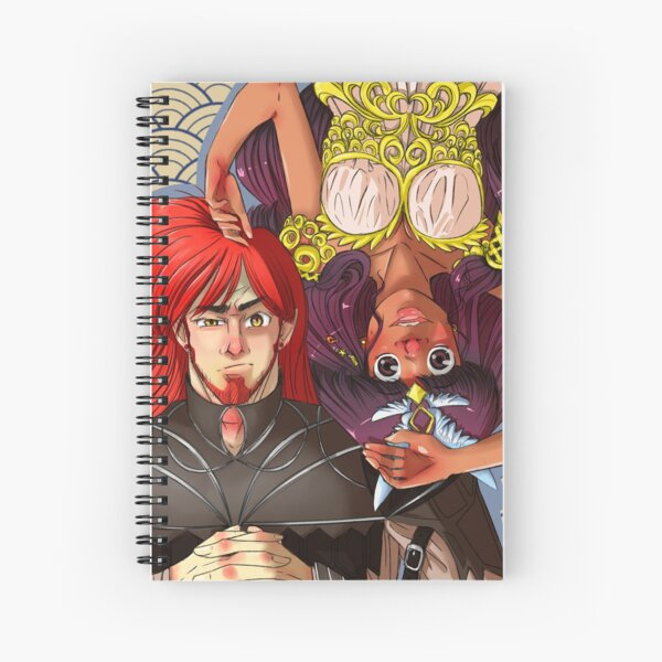Tiara and Elgor  Spiral Notebook