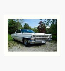 When Cars Were Cars - 1964 Cadillac Art Print