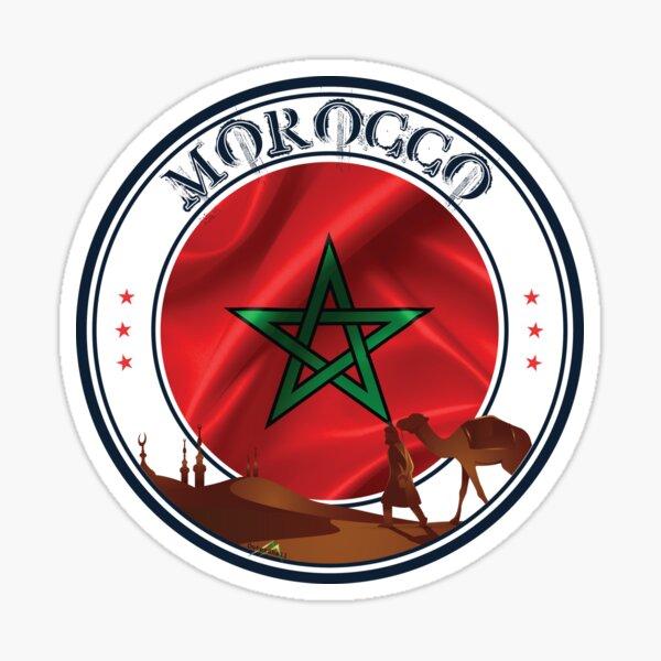 MAROC Maroc Drapeau Marocain Autocollant Sticker