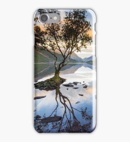 Snowdonia - Snowdon reflections on Llyn Padarn iPhone Case/Skin