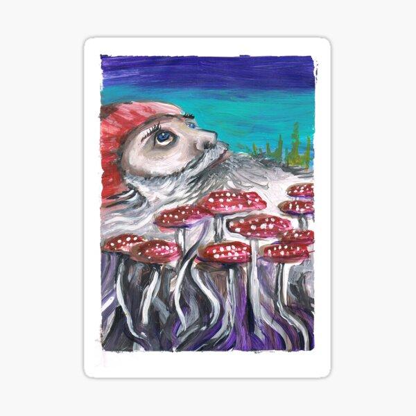 Wizard Shrooms Sticker