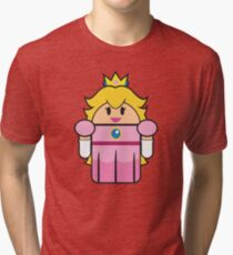 Super Droid Bros. Princess Peach Tri-blend T-Shirt
