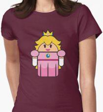 Super Droid Bros. Princess Peach Womens Fitted T-Shirt