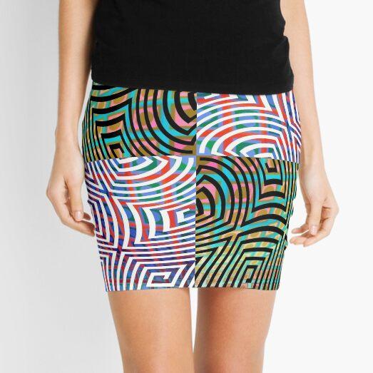 Hypnotic Lines Mini Skirt