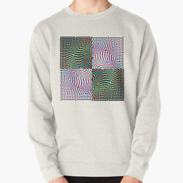 Hypnotic Lines Pullover Sweatshirt