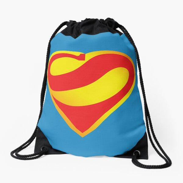 Super Heart Drawstring Bag
