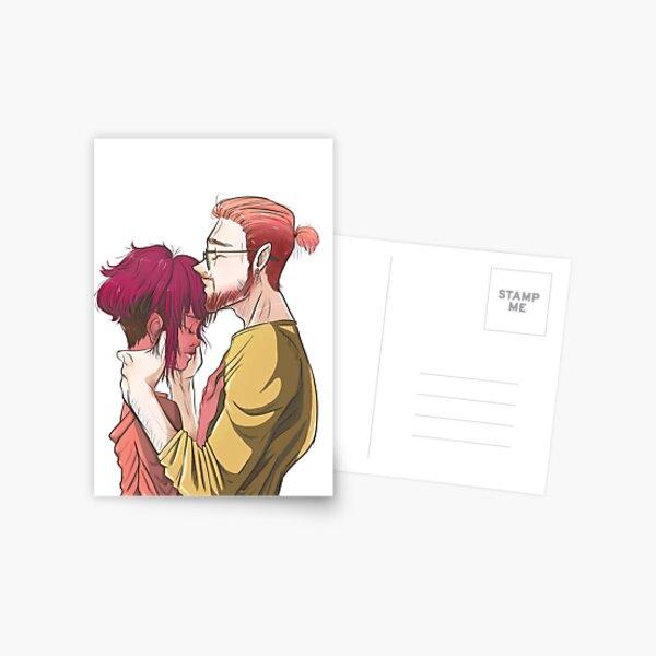 Forehead kisses  Postcard